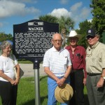 From left, Historical Commission members Carolyn Bistline, John Bistline, Cecil Tucker & Ed L'Heureux