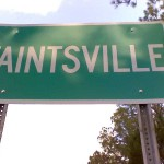 Taintsville road sign on SR/419 (looking east)