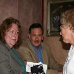 Judge Alley (left), Moderator Wayne Weinberg (center) and LWV Vice President Jane Lane