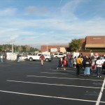 Parade staging at Oviedo High School