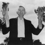 Andrew Duda, Sr. with celery bouquets