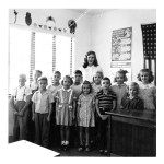 First school, added classroom, teacher ca 1946
