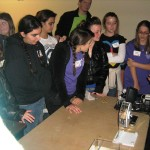UCF Engineering student gives a demonstration (photo - CMF Public Media)