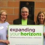 (L-R) Diane Johnson, Dr. Charles Riley, Leslie Castner, directors of the conference (photo - CMF Public Media)