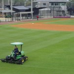 Maintaining the pristine grass  (photo - City of Winter Springs)