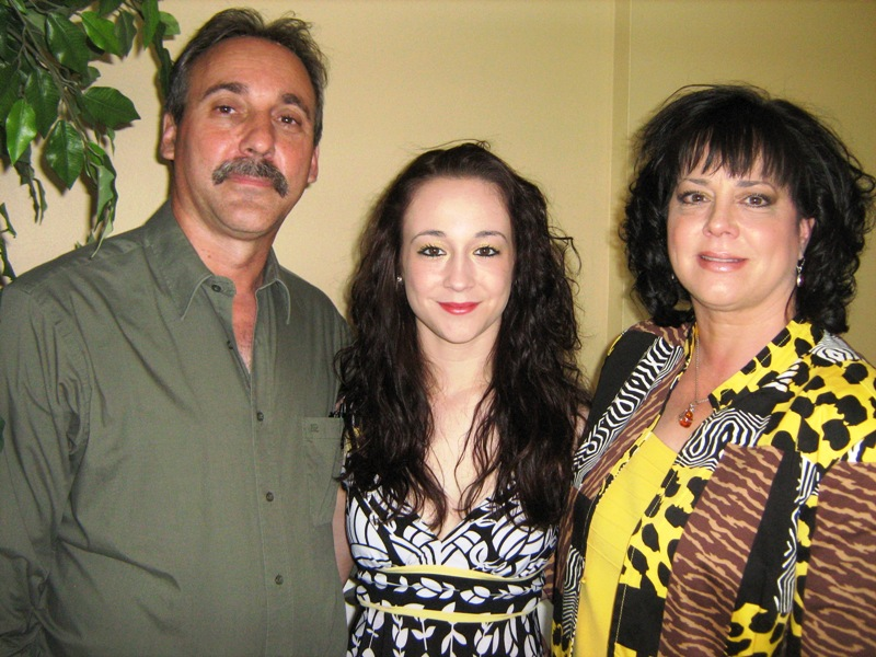 Student Tara Stanko flanked by parents Lenny and Thea Stanko (photo - CMF Public Media)