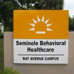 Seminole Behavioral Healthcare marquee in Sanford, Florida (photo - CMF Public Media)