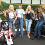 The Chrome Angels: (from left) President Jessi Sills, Valerie Gilardi, Trish Rose and Judy Hayes (photo - CMF Public Media)