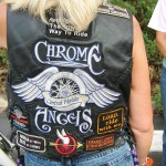 Chrome Angels' vests (photo - CMF Public Media)