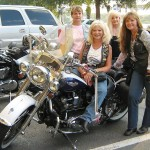 (from left) Valerie Gilardi, Jessi Sills (on bike), Trish Rose, Judy Hayes (photo - CMF Public Media)