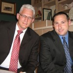 (from left) Candidate Mathew Schwartz and Robert Pollack, Jr. (photo - CMF Public Media)