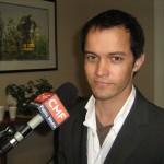 Isaac Babcock, associate editor of the Seminole Voice (photo - CMF Public Media)