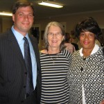 (from left) candidate Paul Sladek; and two forum attendees (photo - CMF Public Media)