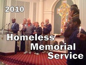 2010 Homeless Memorial Service (photo - First Presbyterian Church)