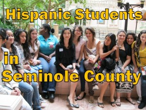 Hispanic Students in Seminole County (photo & graphic - CMF Public Media)