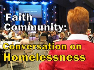 Title- Faith Community's Conversation on Homelessness (photo & graphic - CMF Public Media)