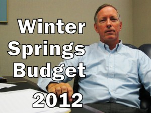 City of Winter Springs Budget – 2012 (photo & graphic -- CMF Public Media)
