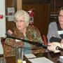 League member Jeanne Morris asks question (photo - Charles E. Miller for CMF Public Media)
