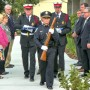 City Commissioners and color guard participate in flag raising ceremony (photo - Charles E. Miller for CMF Public Media)
