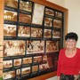 Judy Duda and pictures of the early church (photo - CMF Public Media)