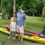 The Hawthorne family prepares to launch their kayaks on the Wekiva River (photo - CMF Public Media)