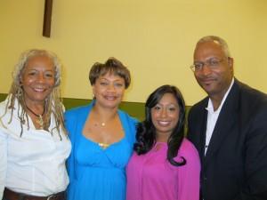 Trayvon Martin – Media Forum (L/R- Francis Oliver, Susan Vernon-Devlin, Jennifer Bisram, and Mark Russell)