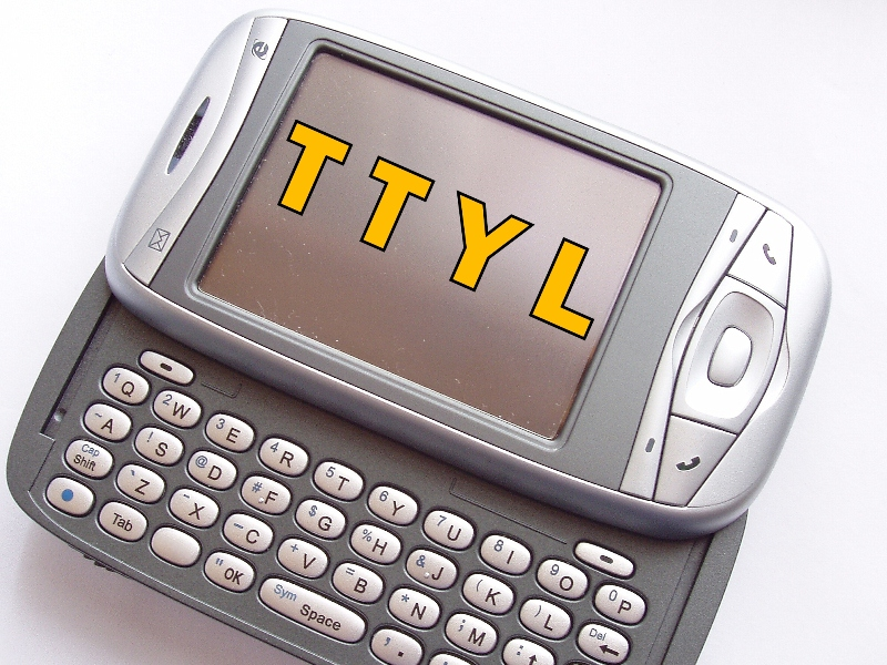 "Talk To You Later title (""PocketPC"" – courtesy Tom van Beveren)"
