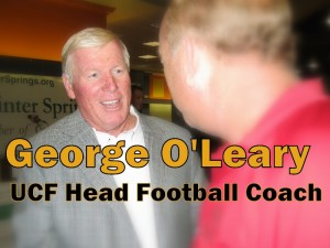 George O'Leary, head football coach at the University of Central Florida